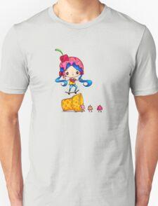 Skater Girl Ollies Over Ice Cream Cone Unisex T-Shirt