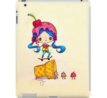 Skater Girl Ollies Over Ice Cream Cone iPad Case/Skin