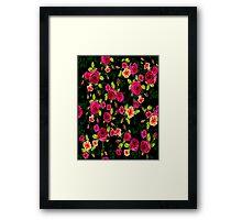 """BRIGHT ROSE GARDEN"" Art Deco Print Framed Print"