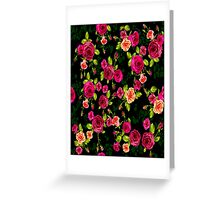 """BRIGHT ROSE GARDEN"" Art Deco Print Greeting Card"