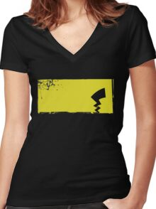 Pikachu Tail Women's Fitted V-Neck T-Shirt