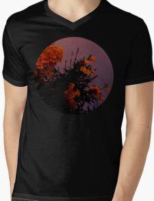 Twilight Flowers Mens V-Neck T-Shirt