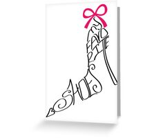 Typography Design.Woman shoes from words Greeting Card