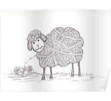 Tangled Sheep Poster