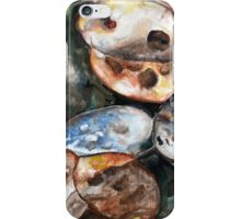 Plants, Nature, Honesty, Organic, Autumnal, Watercolour Painting iPhone Case/Skin