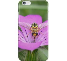 Hoverfly on Pink flower iPhone Case/Skin