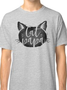 CAT PAPA - Black Classic T-Shirt