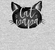 CAT PAPA - Black Unisex T-Shirt