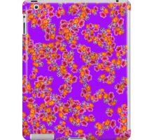 Flowers Random Fill Pattern Purple iPad Case/Skin