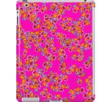 Flowers Random Fill Pattern HotPink iPad Case/Skin