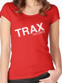 trax records t shirt Women's Fitted Scoop T-Shirt