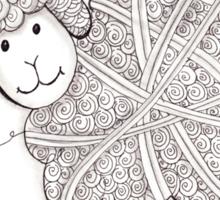 Tangled Sheep Sticker
