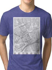 Detroit Map Line Tri-blend T-Shirt