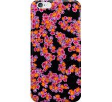 Flowers Random Fill Pattern Black iPhone Case/Skin