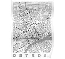 Detroit Map Line Poster