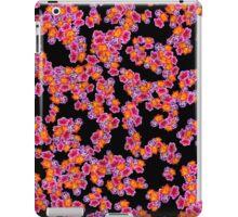 Flowers Random Fill Pattern Black iPad Case/Skin