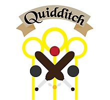 Quidditch with text Photographic Print