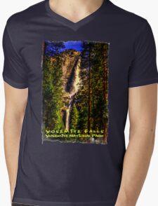 Yosemite Falls Framed by Ponderosa Pines Mens V-Neck T-Shirt