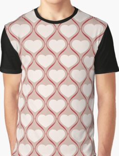 Ogee Heart Bone: Mocha Red Graphic T-Shirt