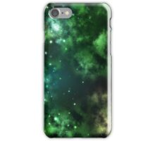 Galaxy Clouds Green iPhone Case/Skin