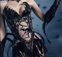 Corvus - gothic style Halloween look  Sticker