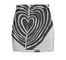 Heart Pattern Mini Skirt