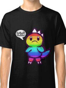 Rainbow Dino pixel Classic T-Shirt