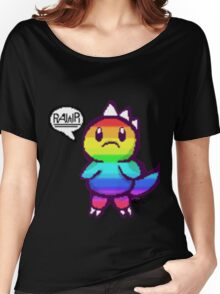 Rainbow Dino pixel Women's Relaxed Fit T-Shirt