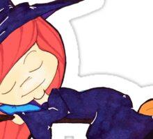 Sleeping Witch Girl Sticker