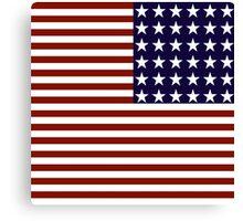 Red White Blue Stars Stripes US Flag Canvas Print