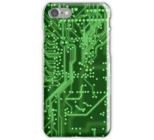 Green Circuit Board iPhone Case/Skin