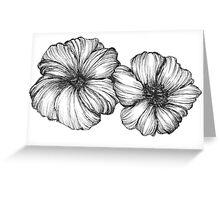 Floral Ink II Greeting Card
