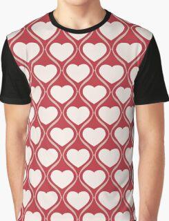 Ogee Heart Bone: Red Mocha Graphic T-Shirt