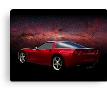 C-6 Corvette and the Cosmos Canvas Print
