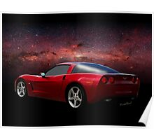 C-6 Corvette and the Cosmos Poster