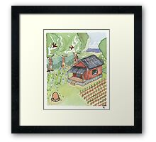 Nine Bean Rows Framed Print