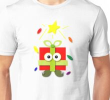 """Gifted"" Kawaii Cartoon Christmas Present Unisex T-Shirt"