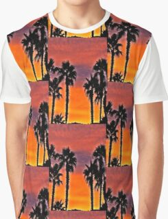 Palms At Sunset Graphic T-Shirt