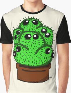 Cute 6 Headed Cactus Graphic T-Shirt