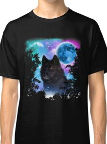 Black Wolf MidNight Forest Classic T-Shirt