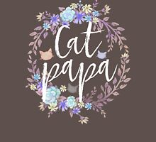 CAT PAPA - Flower crown Unisex T-Shirt