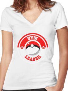Monster Leader Women's Fitted V-Neck T-Shirt