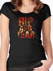 Doom - Rip And Tear Women's Fitted Scoop T-Shirt