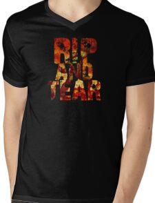Doom - Rip And Tear Mens V-Neck T-Shirt