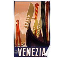 Venezia Vintage Travel Poster c 1920 PD Poster