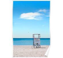 Bike at Summer Beach Poster