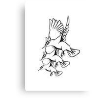 Vogel fliegen flattern formation  Canvas Print