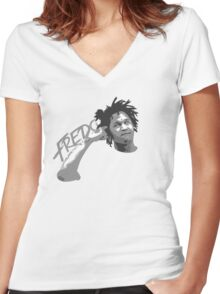 Fredo Santana - to the head Women's Fitted V-Neck T-Shirt