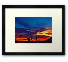 Multi Color Sunset Framed Print