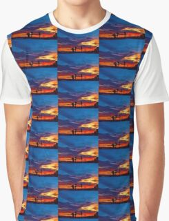 Multi Color Sunset Graphic T-Shirt